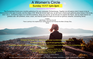 A Women's Circle – Sunday 11/17
