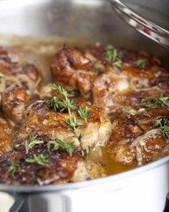 Chicken Thighs Braised with Creole Mustard